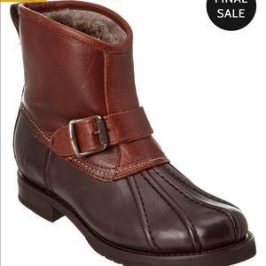 Frye Women Veronica Engineer Leather Duck Boot 5.5